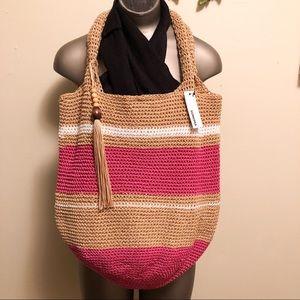 NWT Sonoma Polystring Striped Purse/Bag